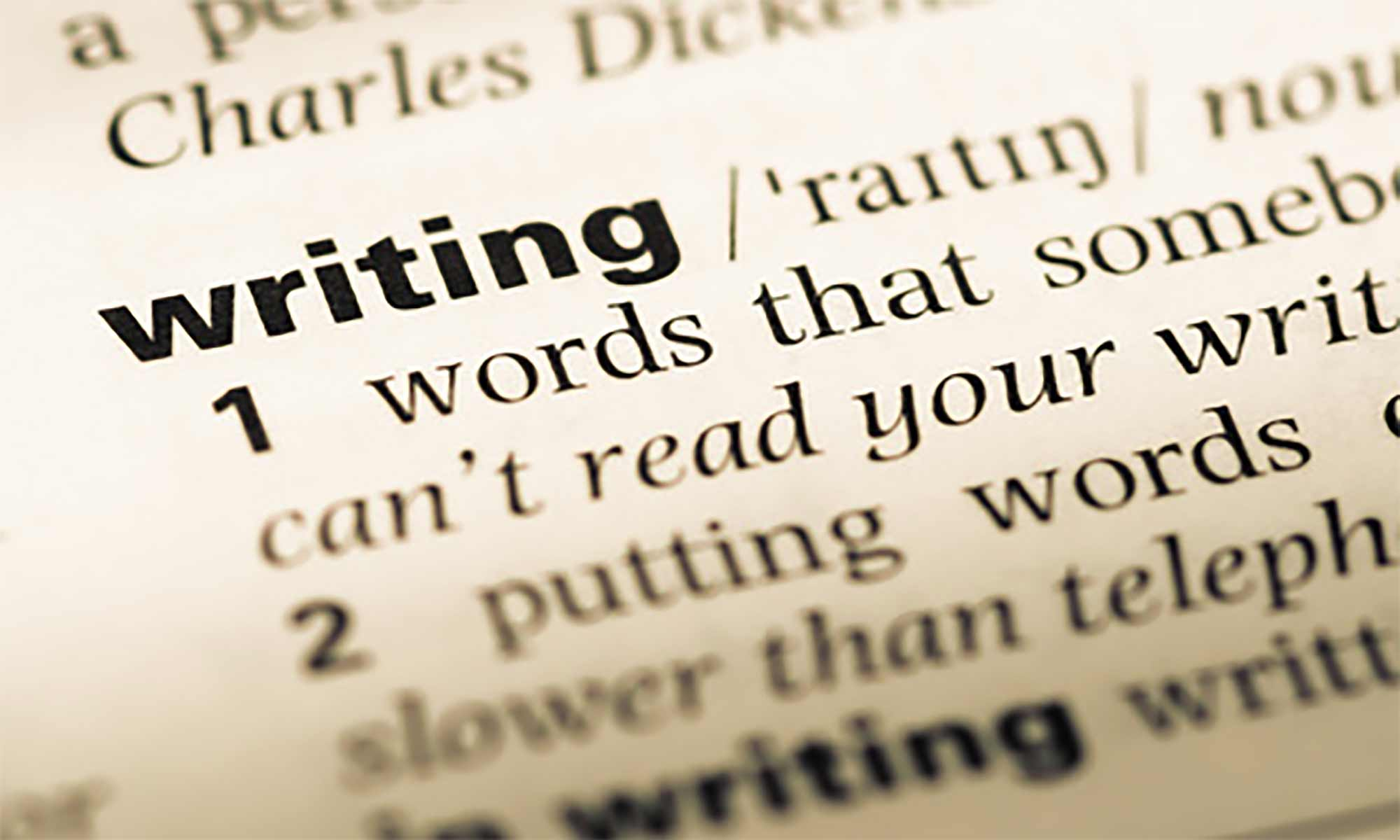 On Words Part Two: Writing